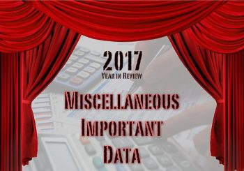 2017 in Film: Miscellaneous Important Data